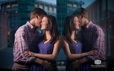 Engagement Photos at Peace Center in Downtown Greenville | Thomas & Laura