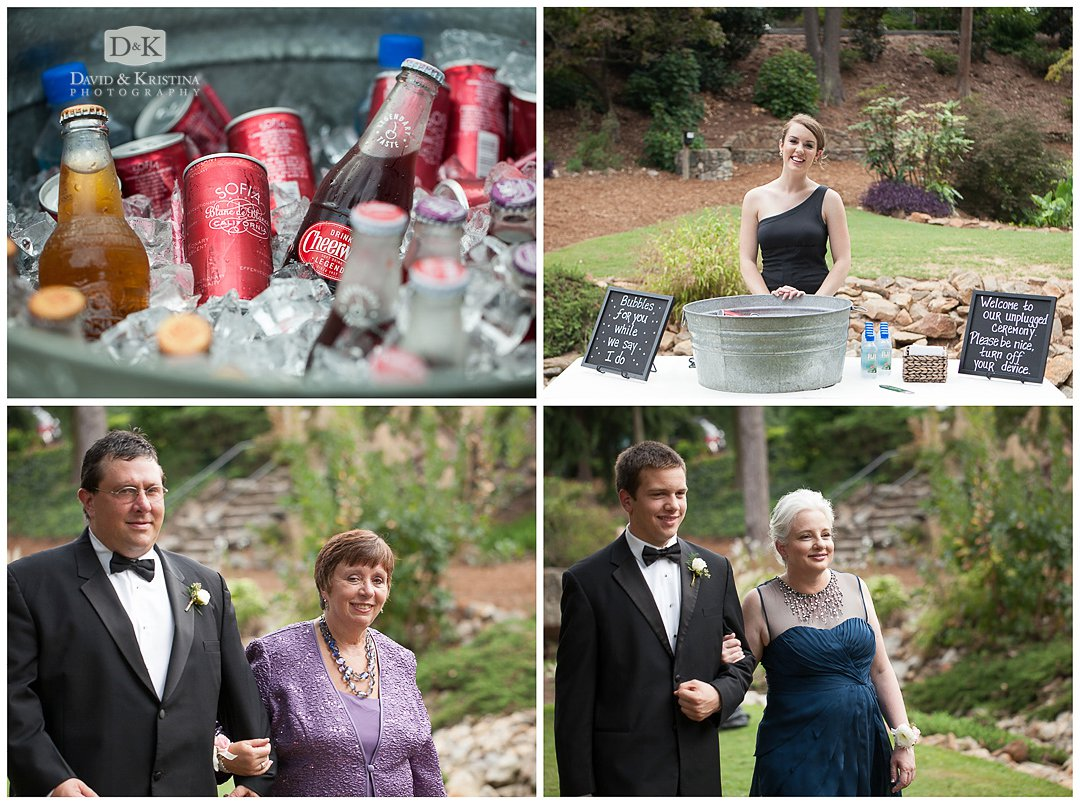 drink station Rock Quarry Garden wedding