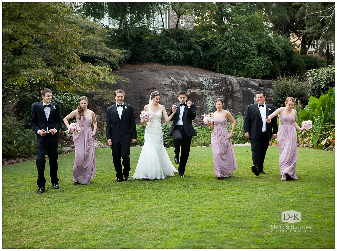 wedding party Rock Quarry Garden Greenville SC