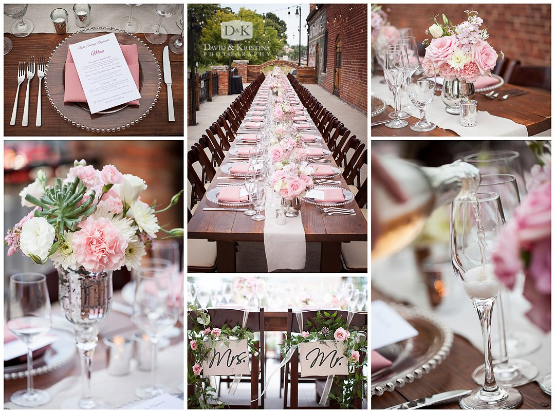 farm style table wedding reception