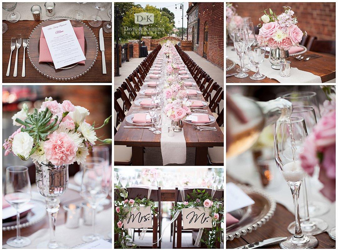 farm style table wedding reception