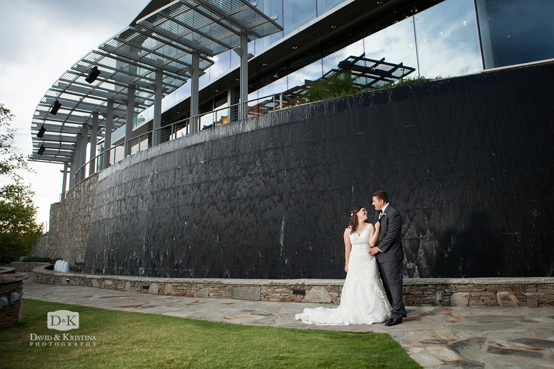 Peace Center wedding photo below Genevieve's