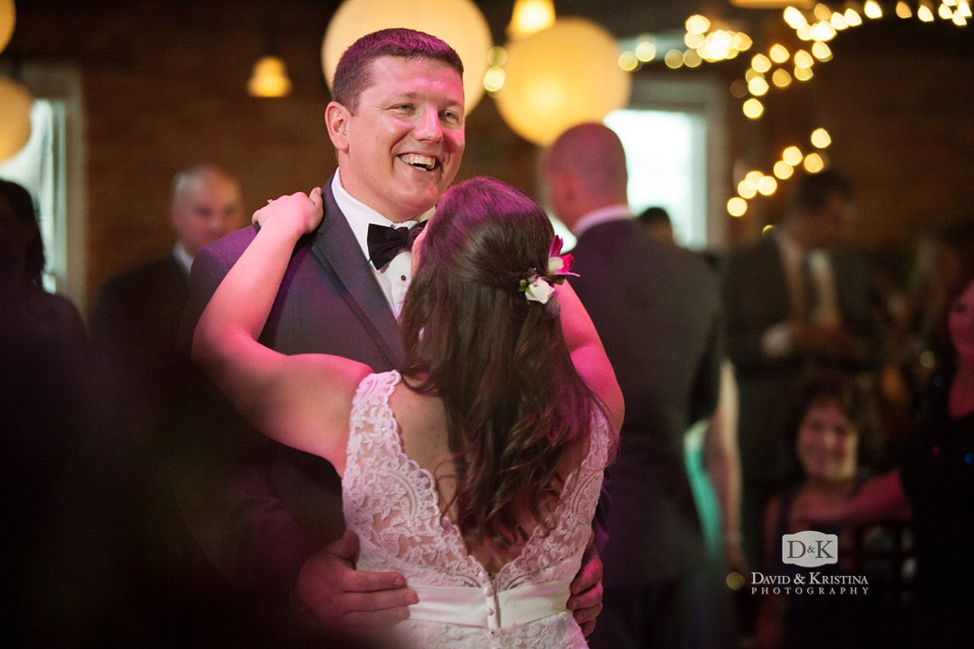 David and Melissa share their first dance