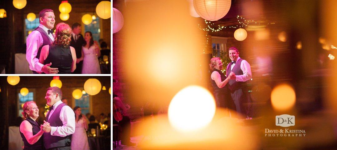 mother-son dance Larkin's Cabaret Room wedding