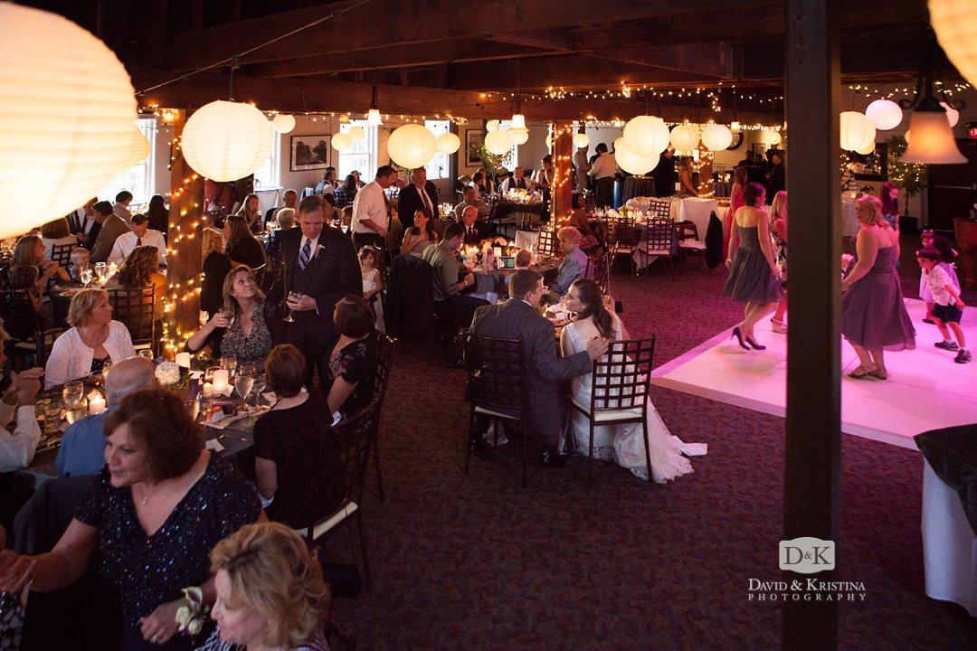 Larkin's wedding reception dinner