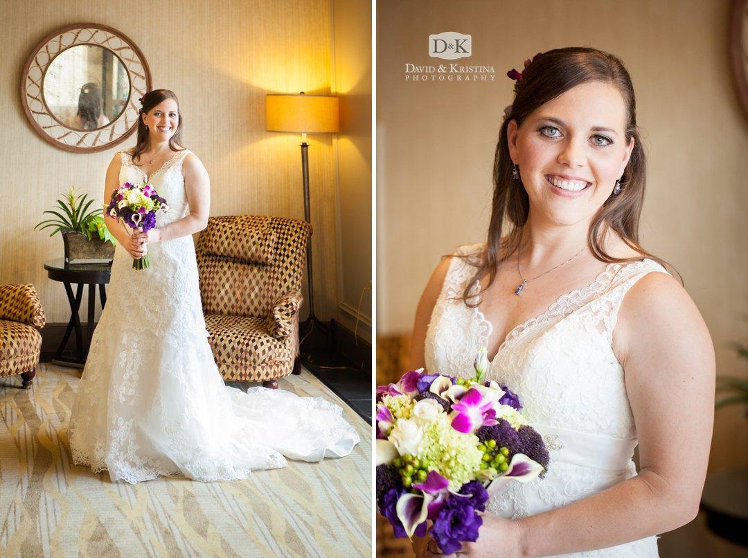 bridal portrait Westin Poinsett hotel