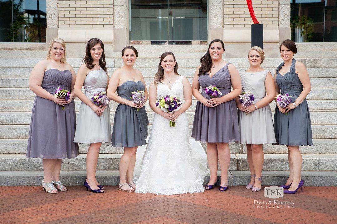 Melissa and bridesmaids
