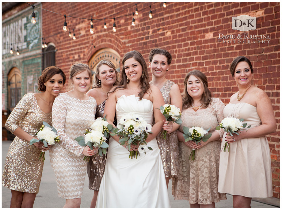 bridesmaids on deck at The Old Cigar Warehouse