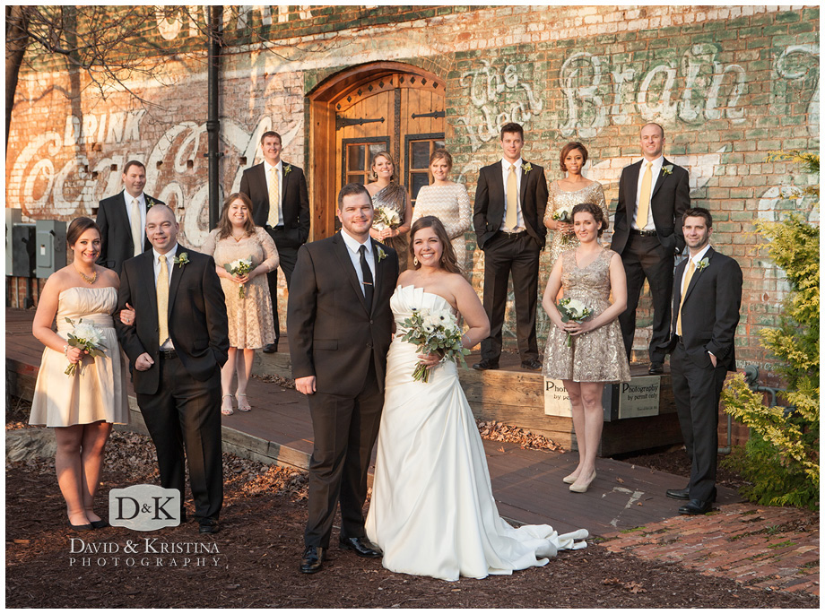 wedding party photos at The Old Cigar Warehouse