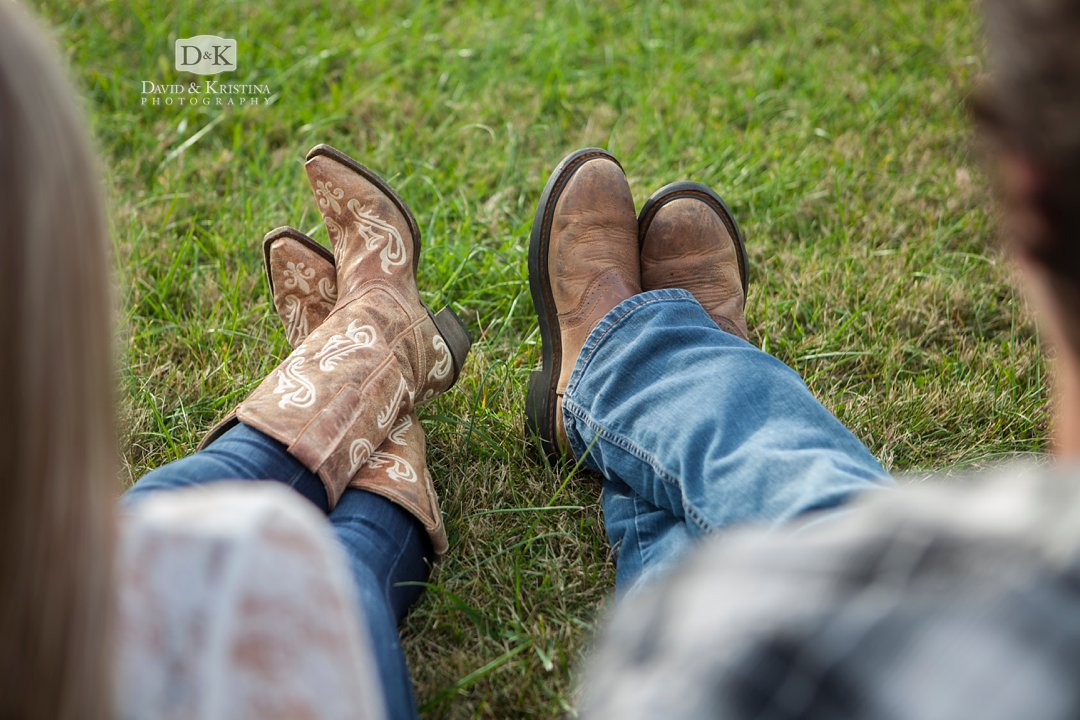 wearing boots for engagement pictures