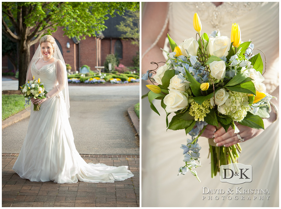 bridal portrait at Christ Church Episcopal
