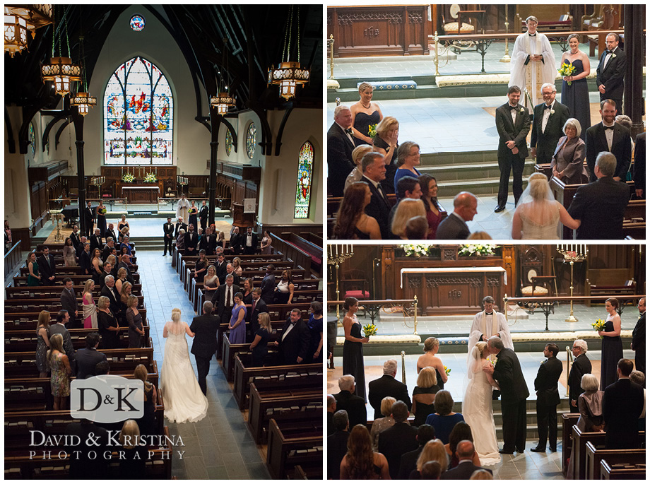 pictures during wedding at Christ Church Episcopal