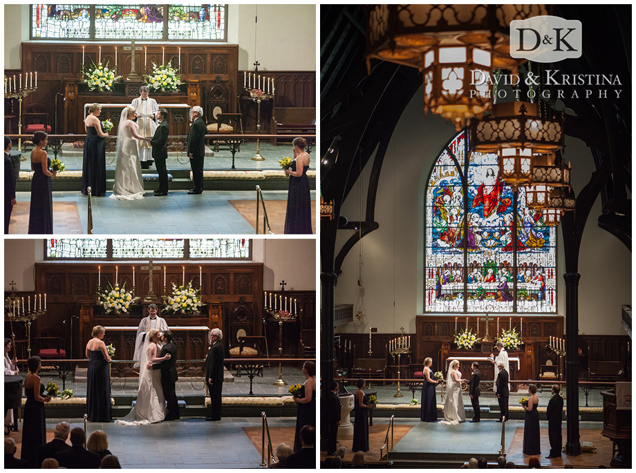 wedding ceremony at Christ Church