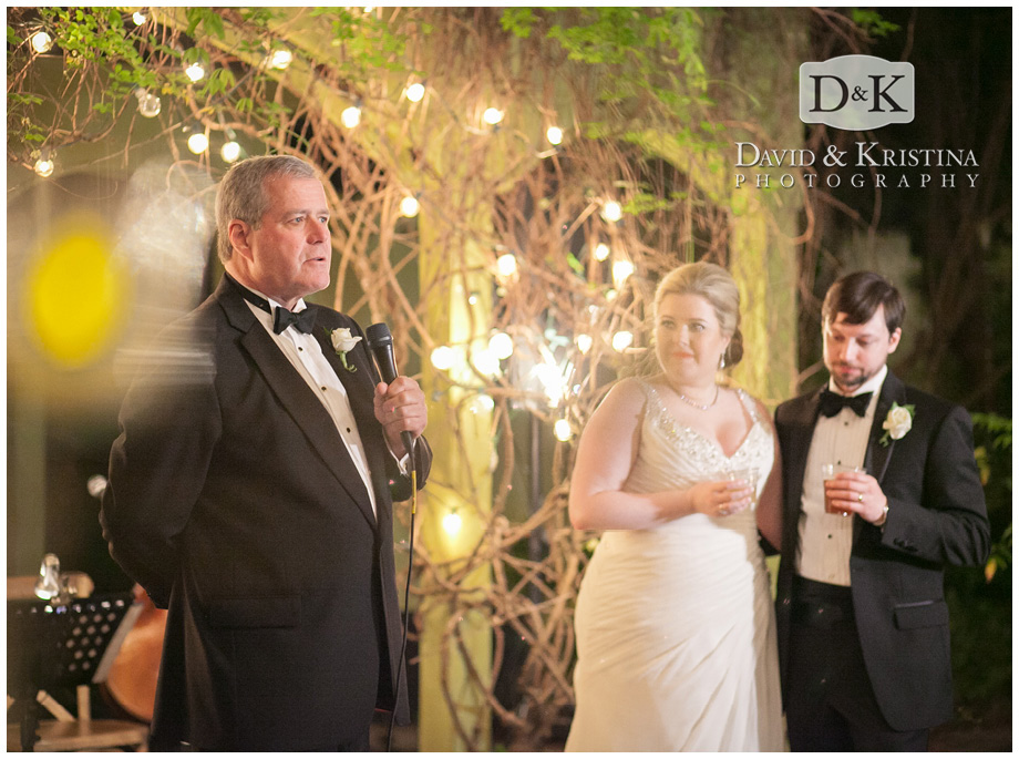 bride's father gives toast