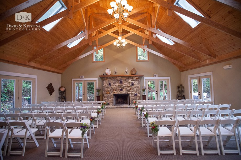 The Lodge for indoor wedding at The Fields of Blackberry Cove