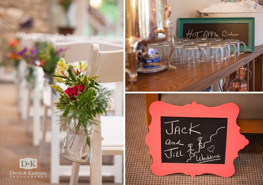 hot apple cider chalkboard sign for a fall wedding