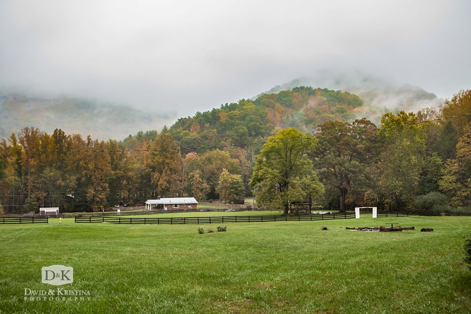 view of The Fields at Blackberry Cove on a rainy autumn day