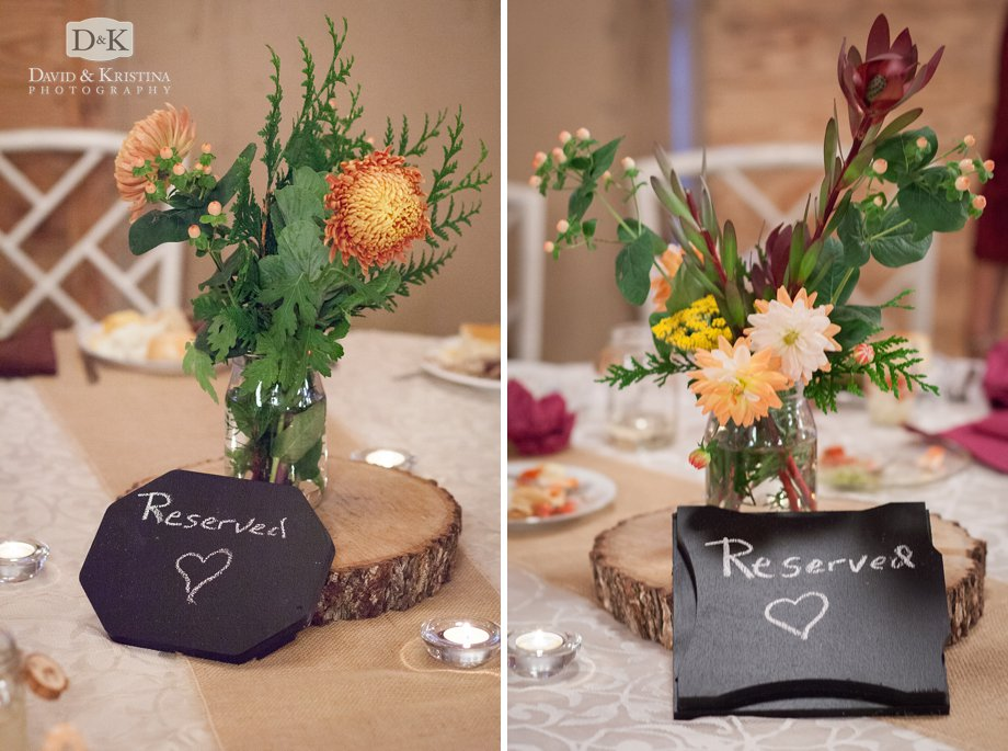 hand drawn chalkboard signs for table centerpieces
