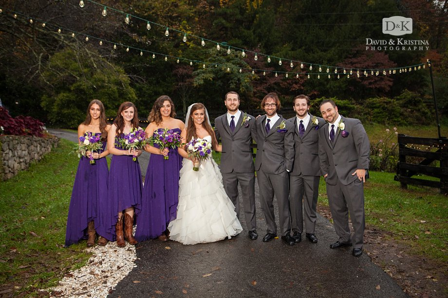 wedding party at The Fields of Blackberry Cove