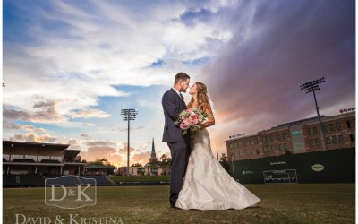 Blake and Courtney's Wedding at Rock Quarry Garden and Fluor Field