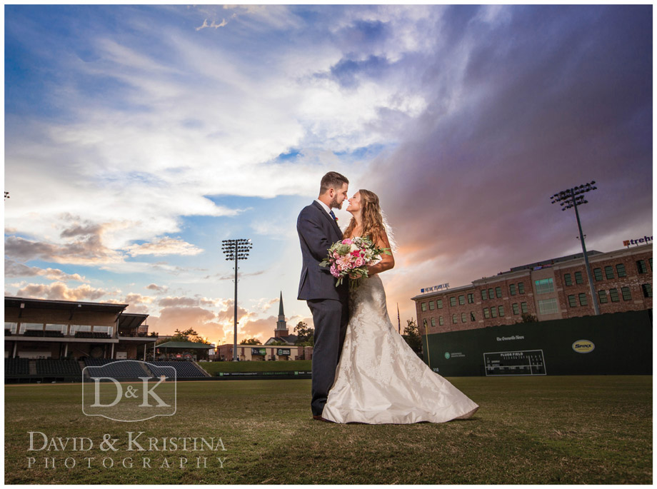 Greenville Drive Fluor Field wedding