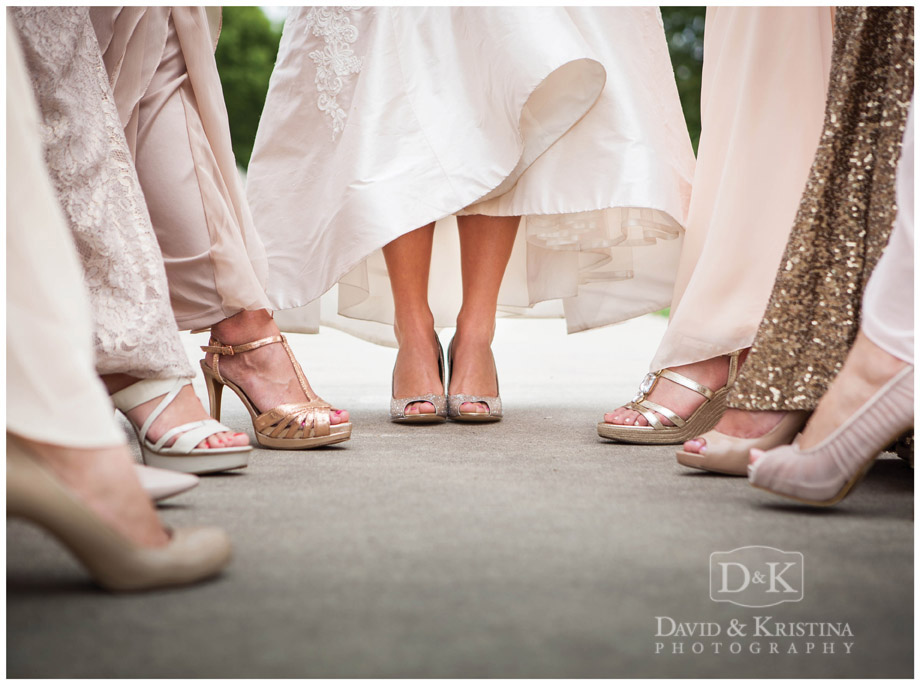 bride and bridesmaids shoes
