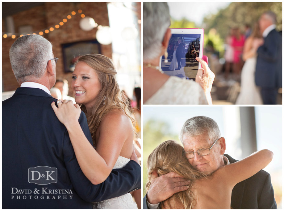 father daughter dance at Greenville Drive wedding reception