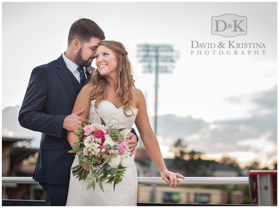 wedding photos at Greenville Drive Fluor Field