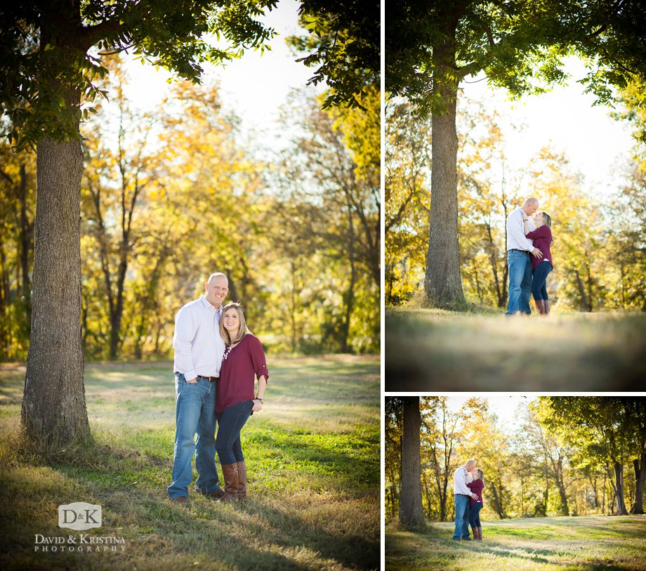 fall engagement session in October