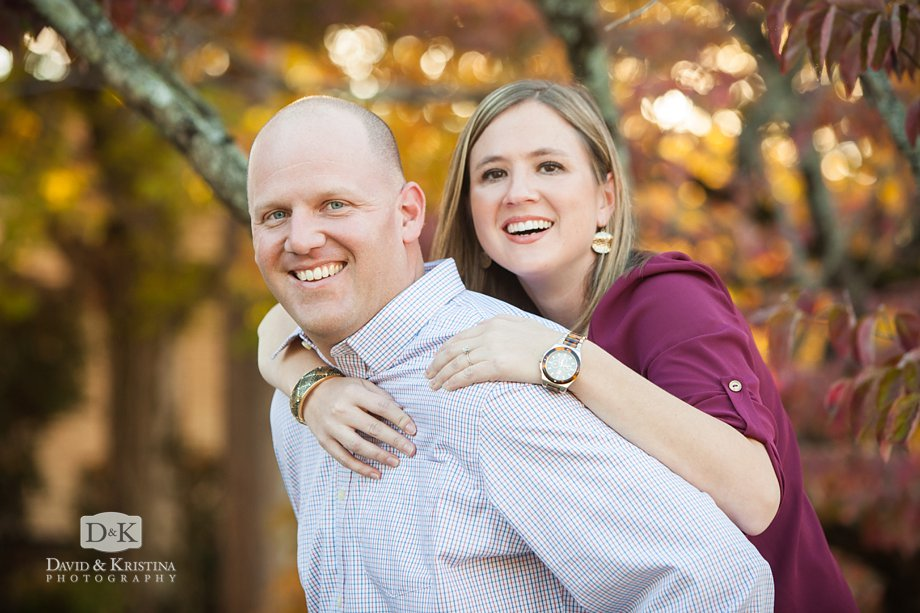 piggy back ride engagement picture