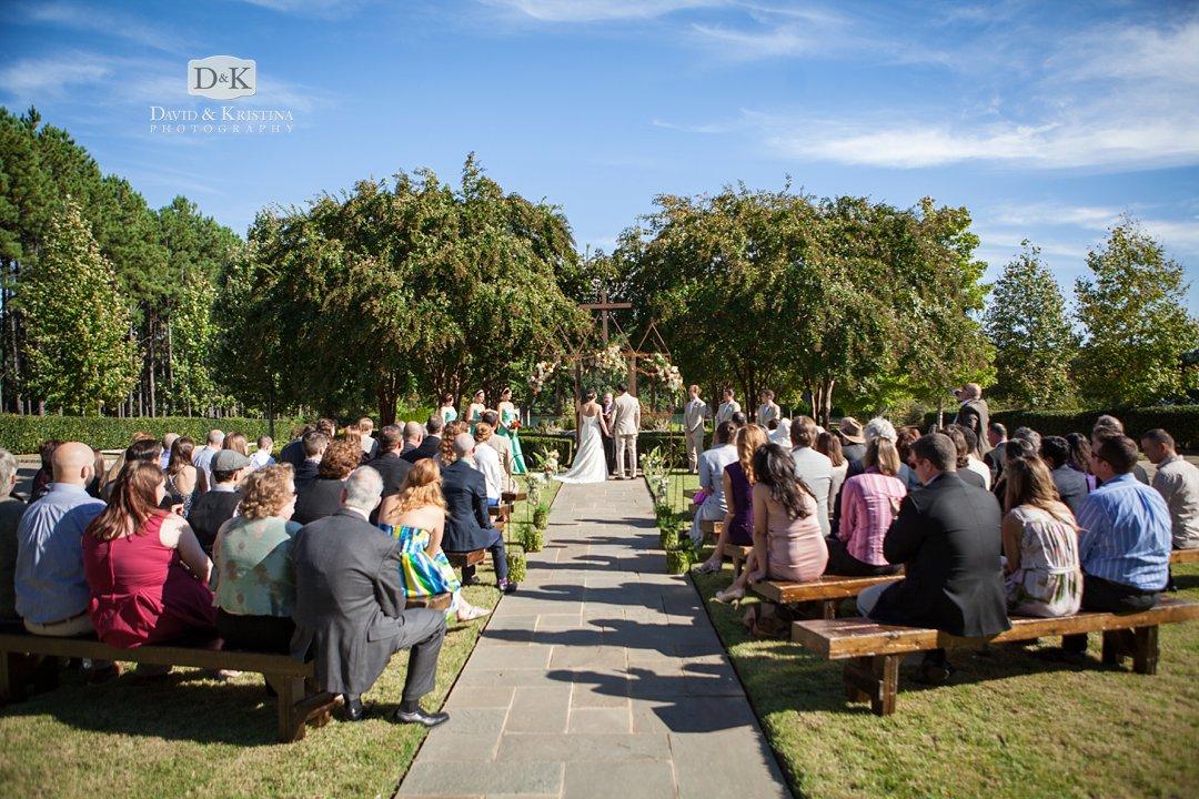 wedding ceremony Village Market Reserve at Lake Keowee
