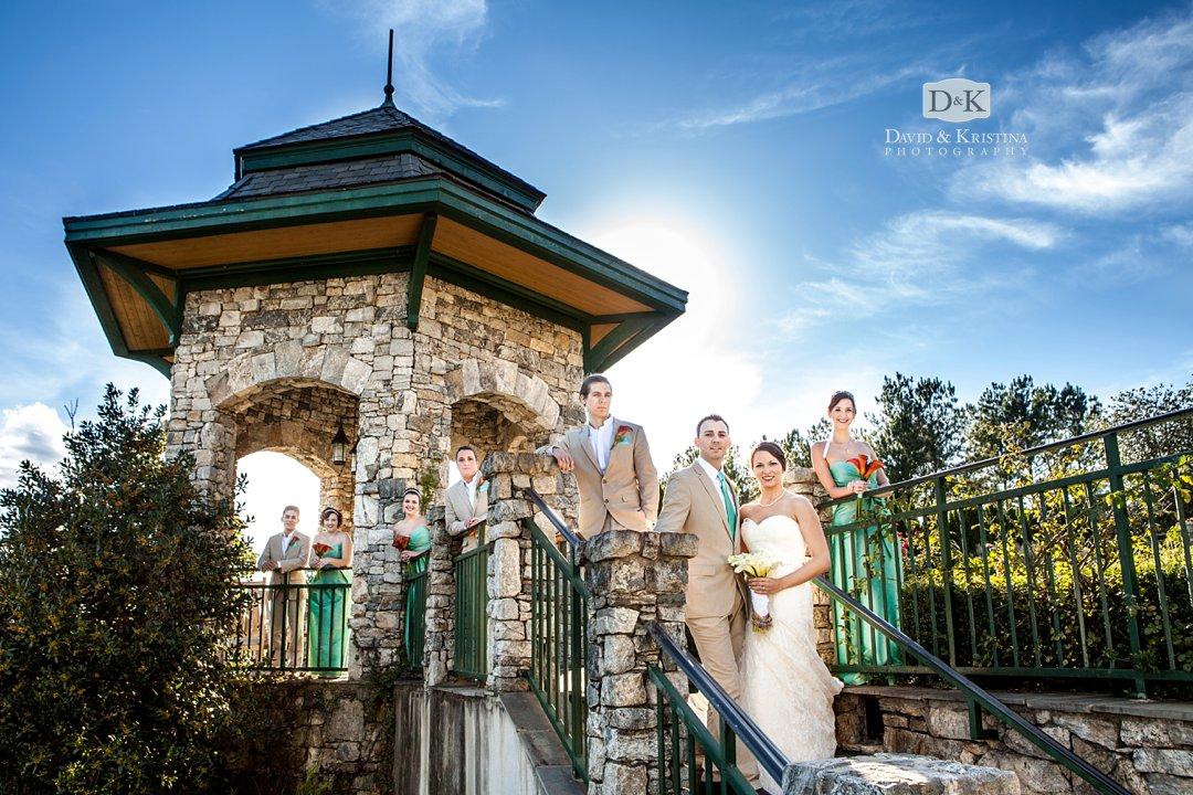 wedding party at waterfront park Reserve at Lake Keowee