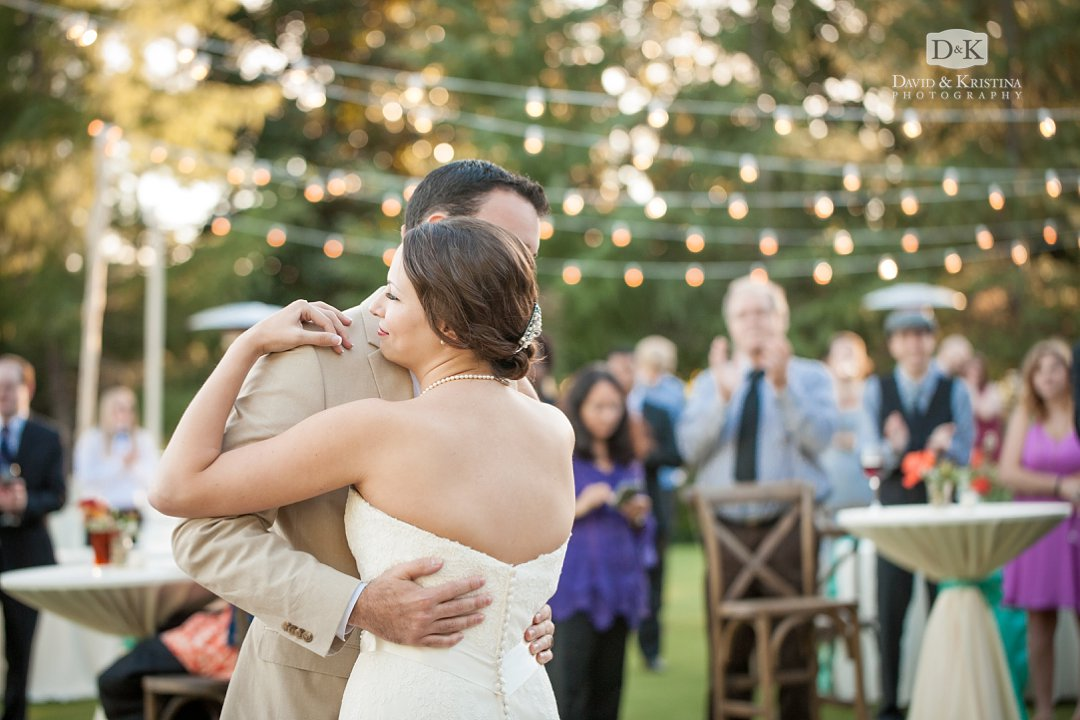 first dance on lawn behind Orchard Clubhouse