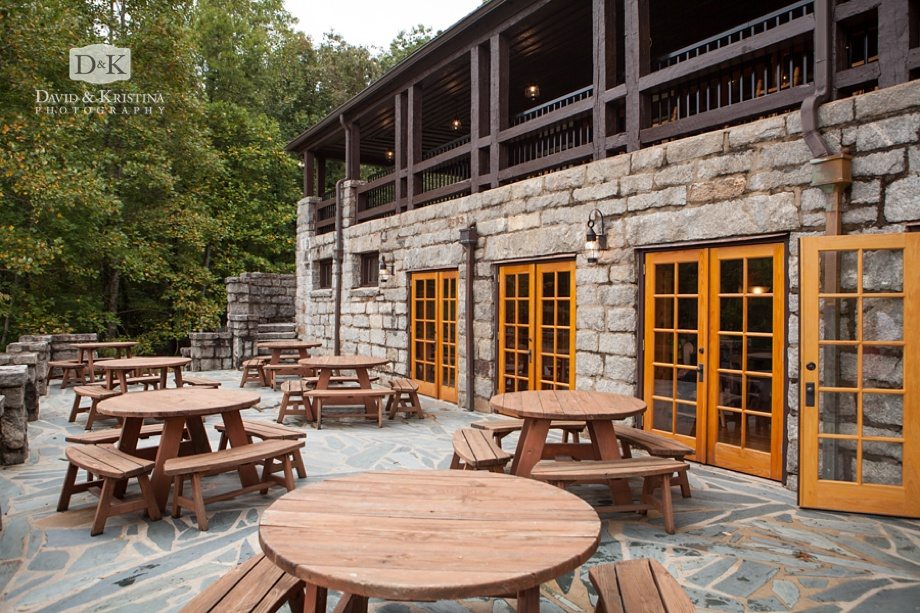 stone patio at The Lodge at Table Rock