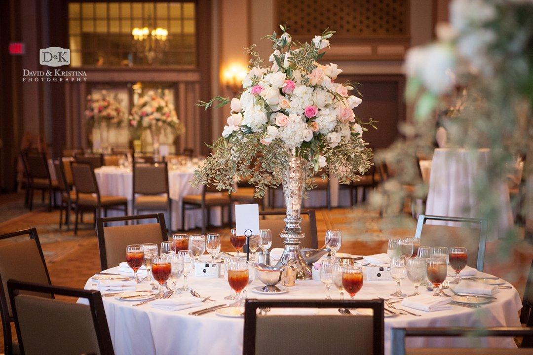 flower arrangements by Greg Foster in Poinsett ballroom