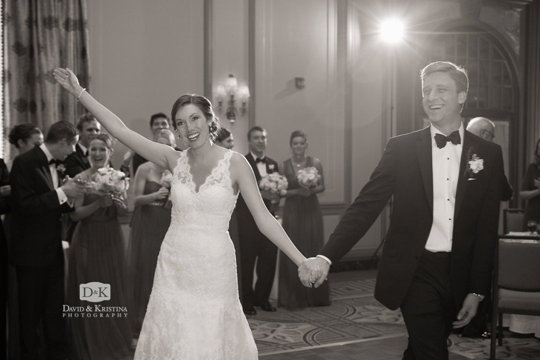 bride and groom introduced at Westin Poinsett reception