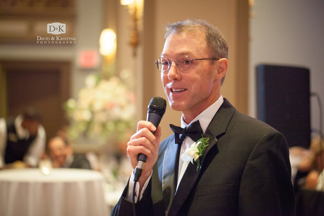Father of the Bride gives toast