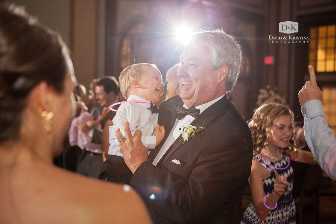 Father of groom dancing a wedding reception