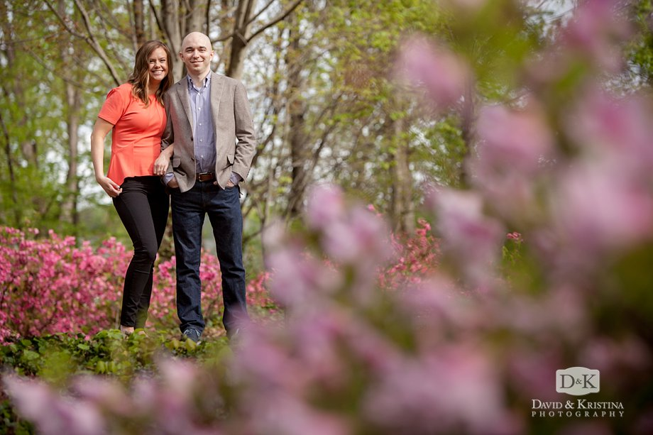 flowers in bloom furman engagement photos