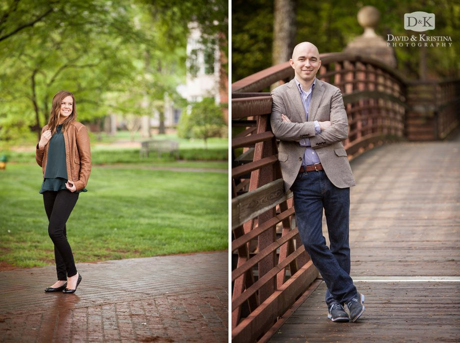 bride and groom engagement photos