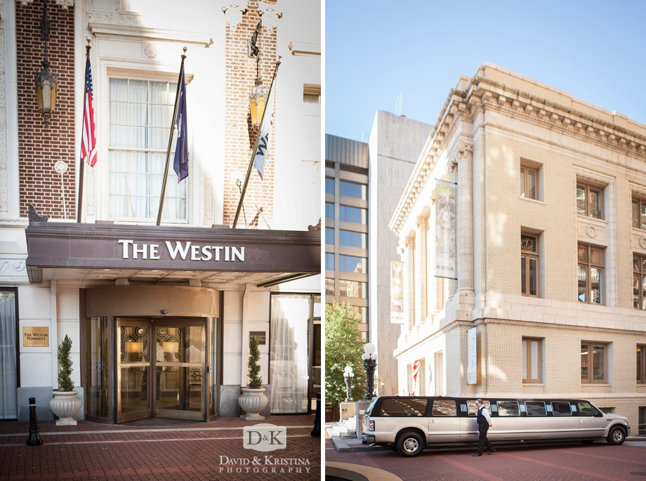 The Westin Poinsett Hotel and limo from Eastside Transportation