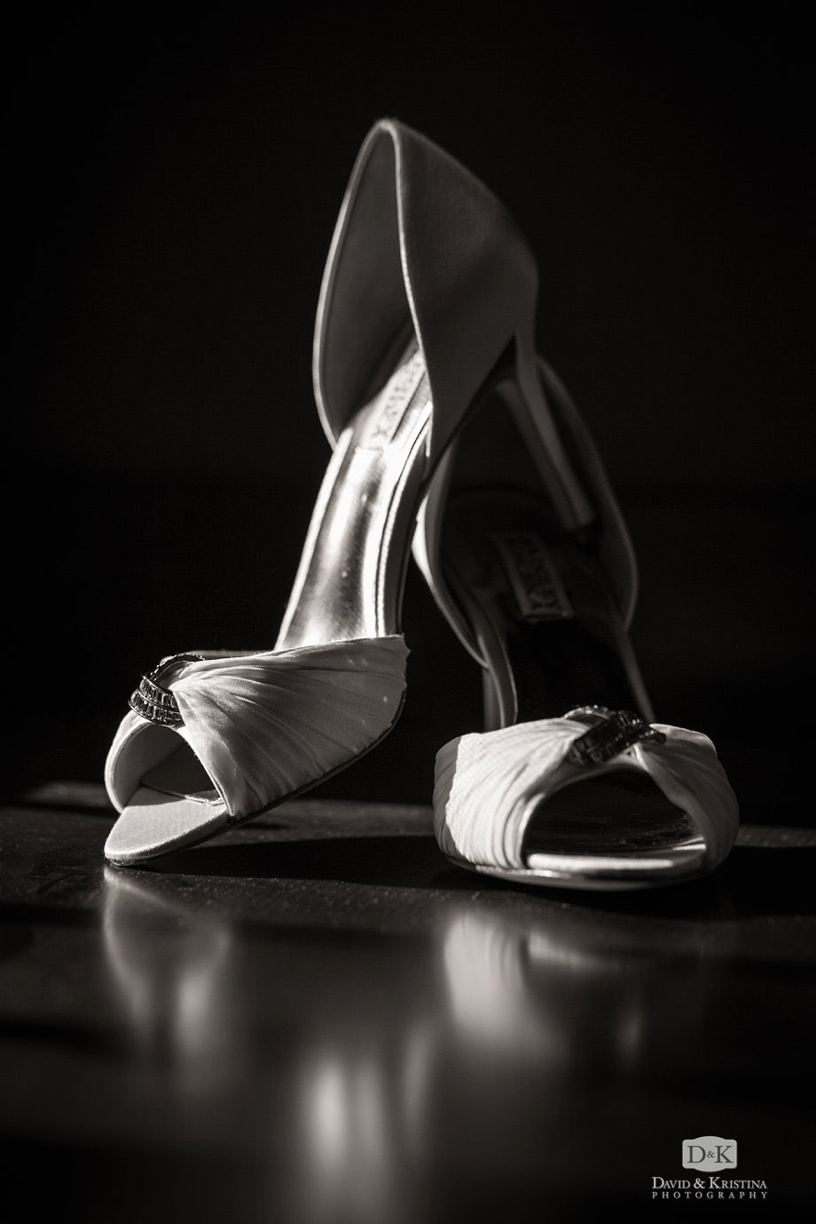 bride's Badgley Mischka shoes