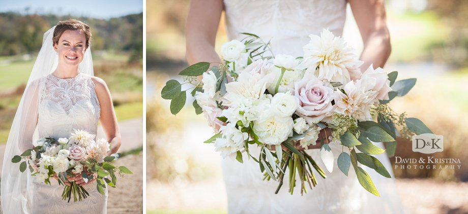 Bride and bridal bouquet by ModFete