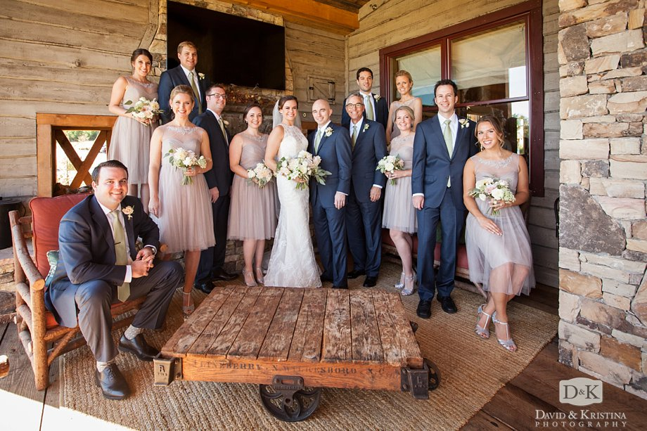 wedding party at The Cliffs at Mountain Park Cabin