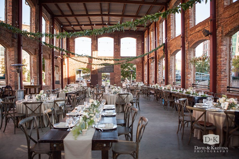The Wyche Pavilion Decorated By Modfete For Wedding Reception