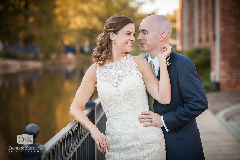 wedding photos on the Reedy River