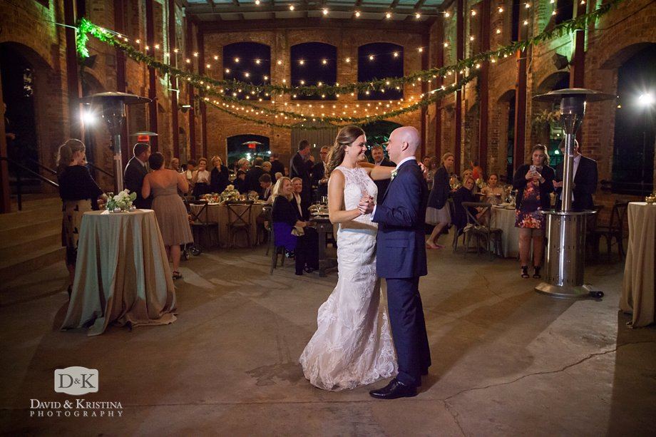 first dance in Wyche Pavilion