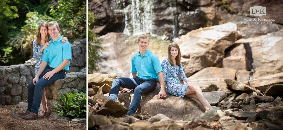 Rock Quarry Garden engagement photos