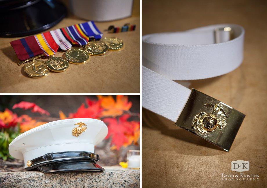 Marine hat belt and medals