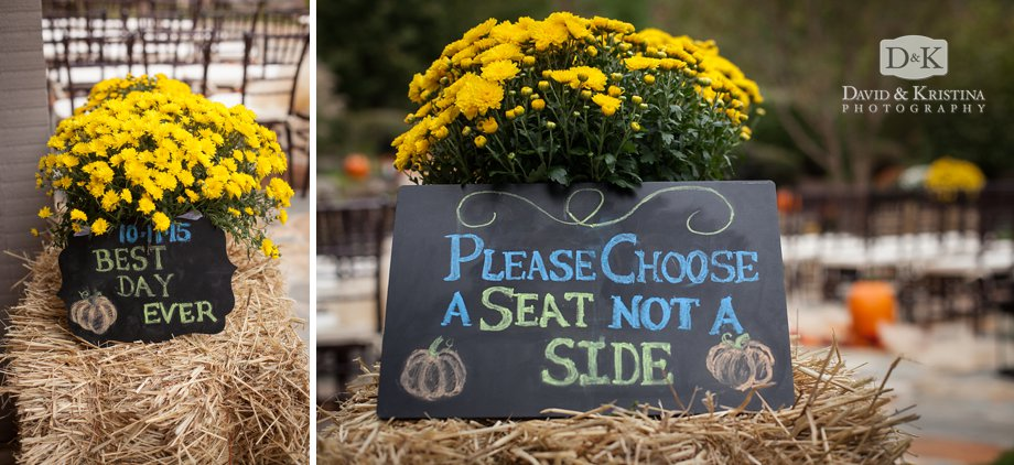 chalkboard please choose a seat not a side